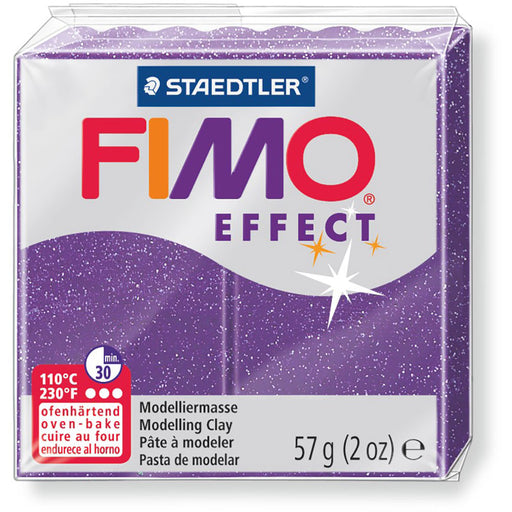 Fimo Effect 58g Glitter Lilac