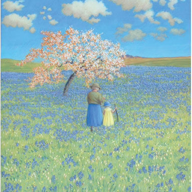 Marcelle Milo Gray - Blossoms And Blue