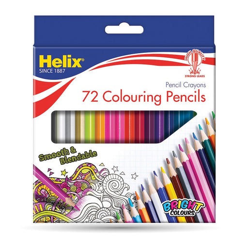 Helix Coloured Pencils Pack of 72