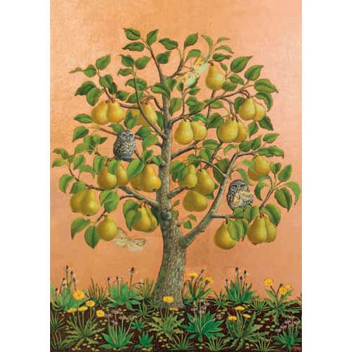 Marcelle Milo Gray - Bosc Pears With Little Owls
