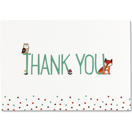Thank You Note Woodland Friends