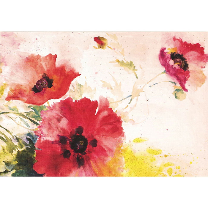Note Card Watercolor Poppies