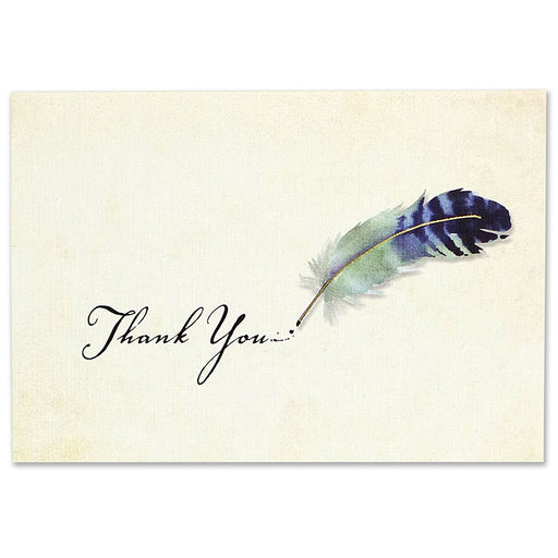 Thank You Note Watercolor Quill
