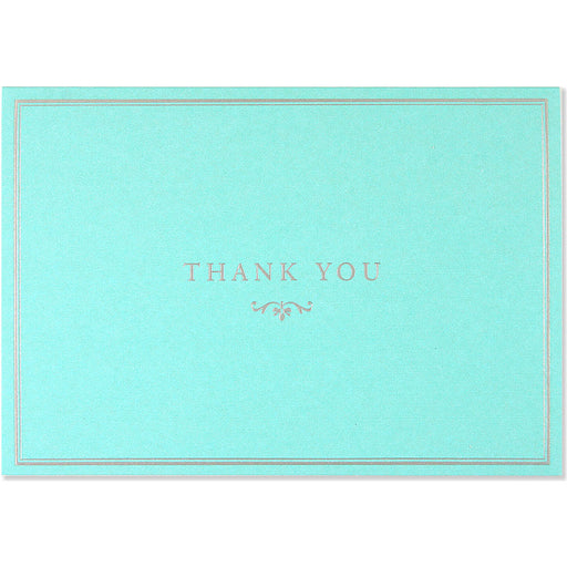 Thank You Note Blue Elegance
