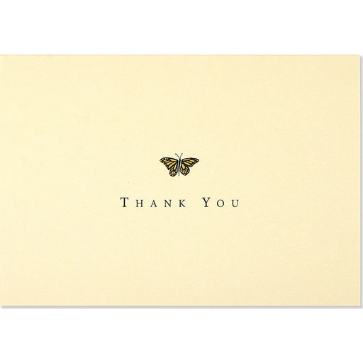Thank You Note Gold Butterfly