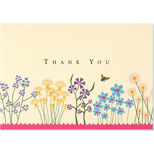 Thank You Note Sparkly Garden