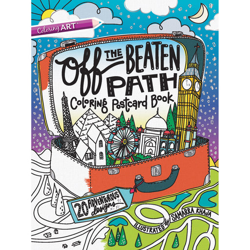 Off the Beaten Path Coloring Postcard Book by Samarra Khaja