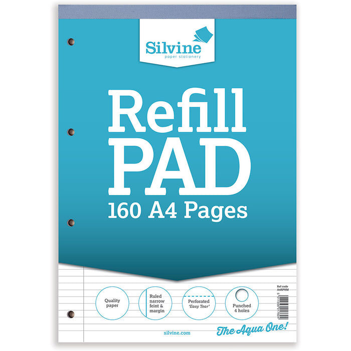 A4 Refill Pad Narrow Feint & Margin