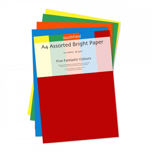A4 Paper Bright Assorted Colours 50  Shts