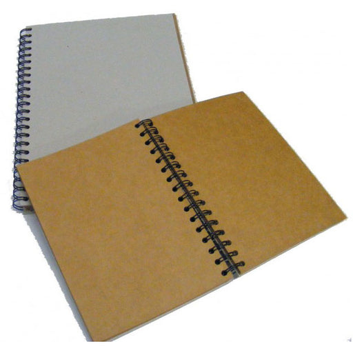 Frisk Greyboard Spiral Kraft Book 280mic 30s Long Edge A5