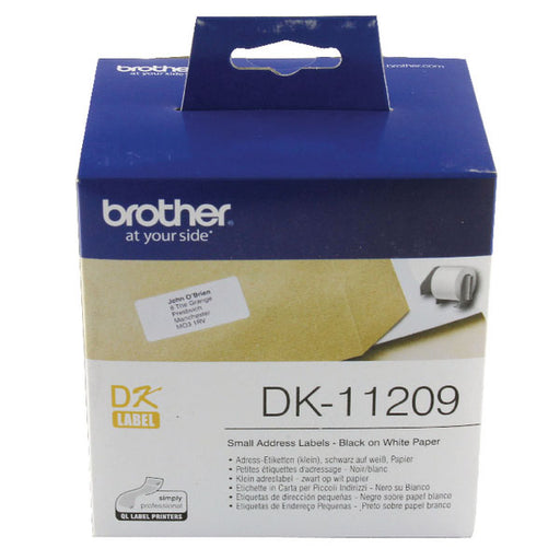 Brother Black on White Paper Small Address Labels DK11209