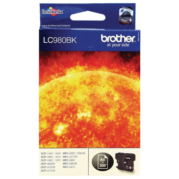 Brother LC980BK Black Inkjet Cartridge LC-980BK