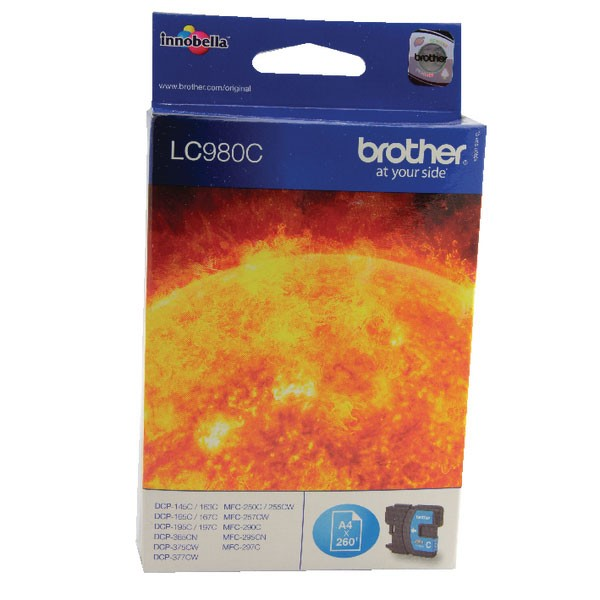 Brother LC980C Cyan Inkjet Cartridge LC-980C