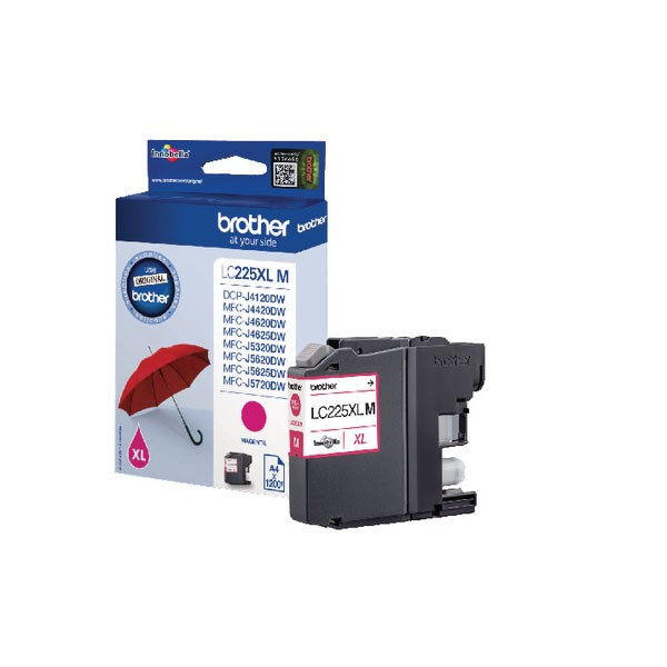 Brother High Yield Magenta Inkjet Cartridge LC225XLM