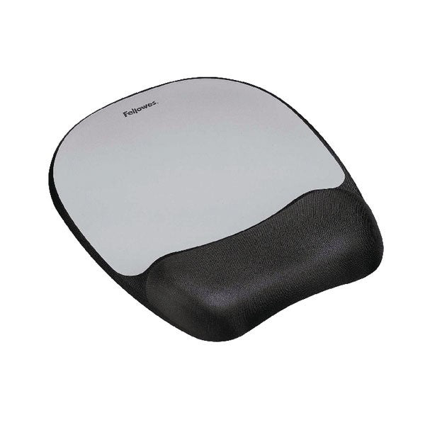 Fellowes Memory Foam Mouse Pad Black/Silver 9175801