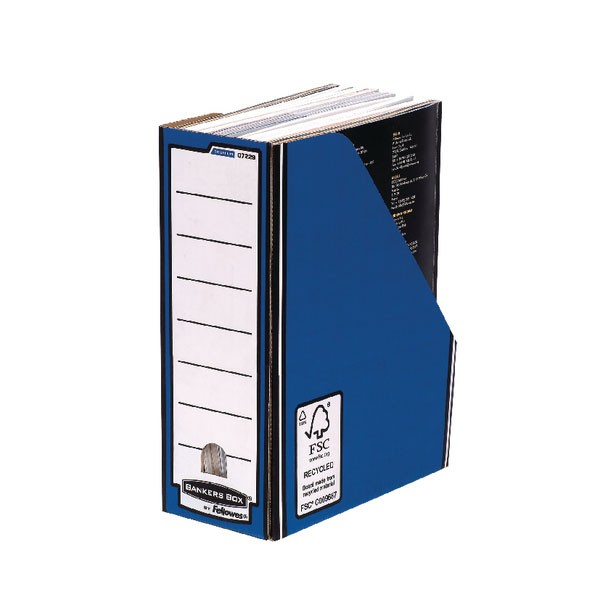 Fellowes Blue /White Bankers Box Premium Magazine File 0722904