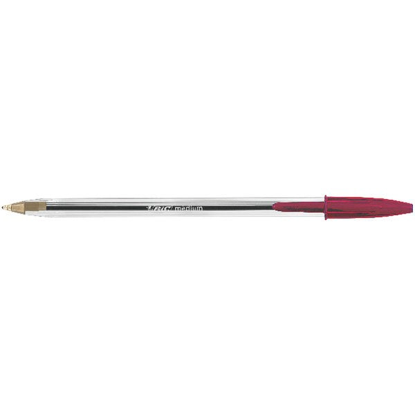 Bic Cristal Ballpoint Pen Medium Red 837361