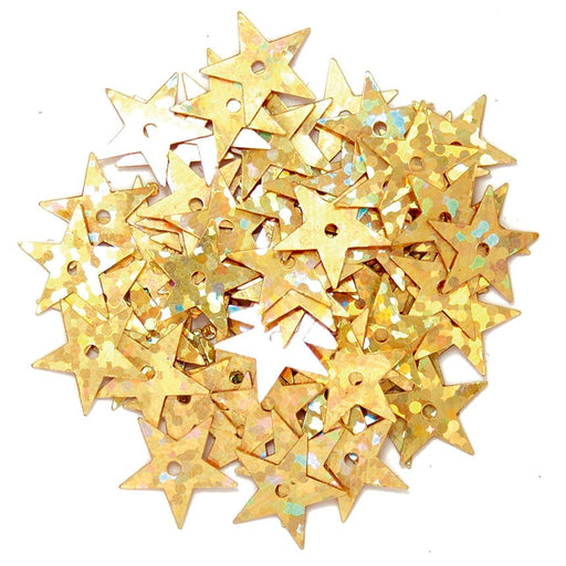 Hologram Stars 10mm: Gold