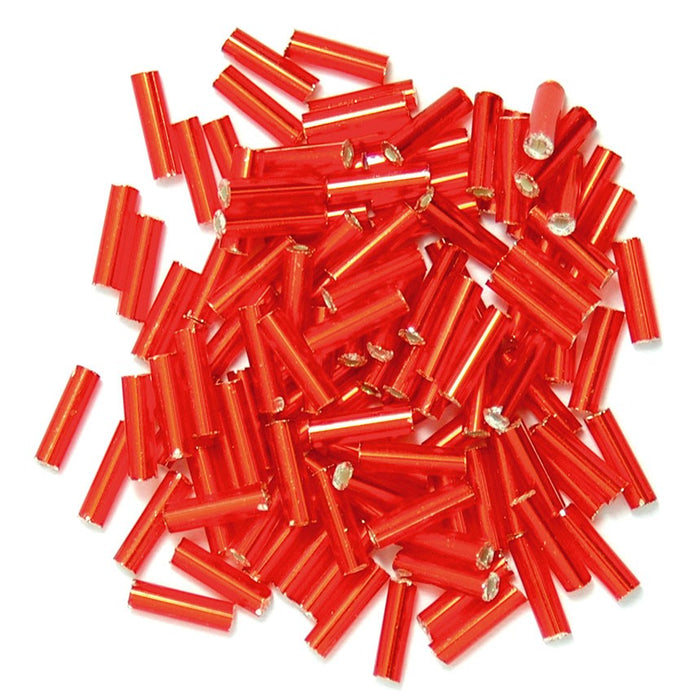 Bugle Beads 6mm: Red
