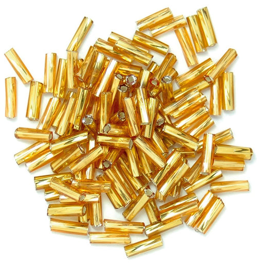 Twisted Bugle Beads 7mm: Gold