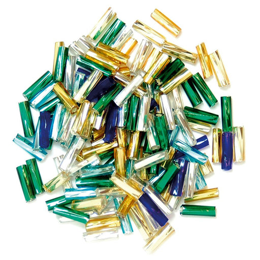 Twisted Bugle Beads 7mm: Multi
