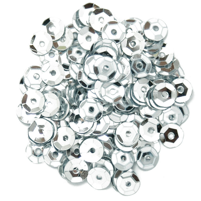 Cup Sequins 5mm: Silver
