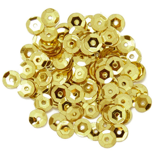 Cup Sequins 5mm: Gold