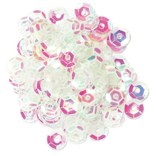 Cup Sequins 5mm: Transparent