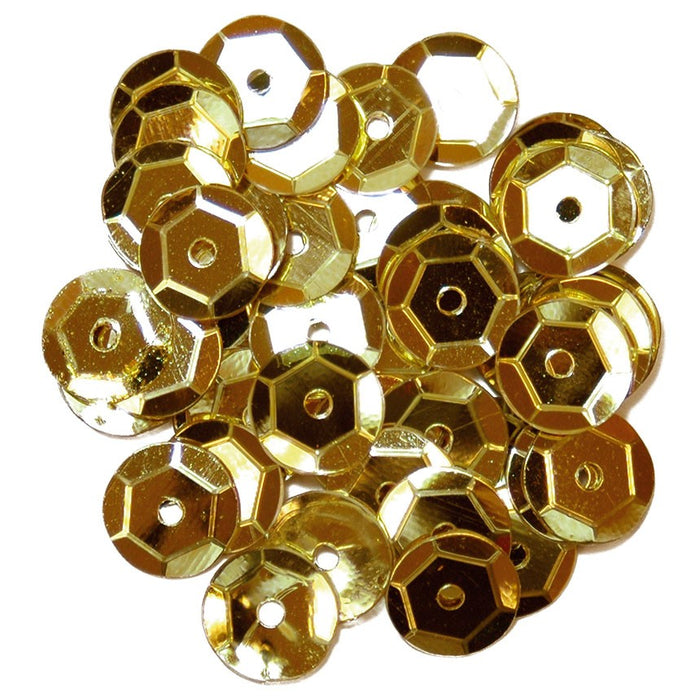 Cup Sequins 8mm: Gold