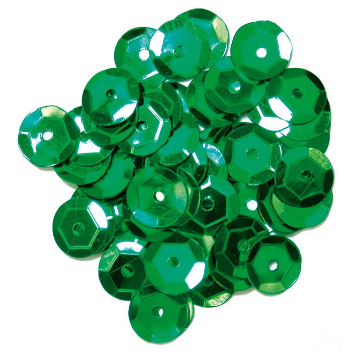 Cup Sequins 8mm: Green