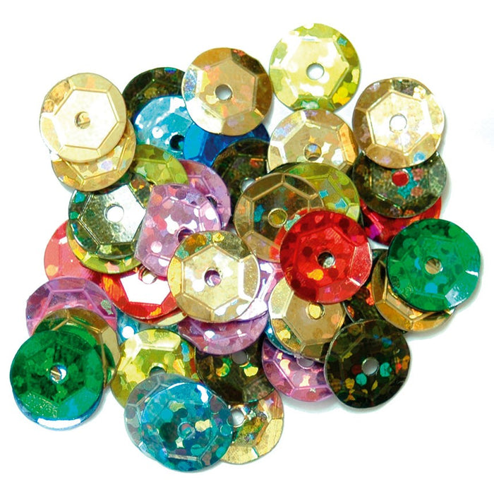 Hologram Sequins 8mm: Multi