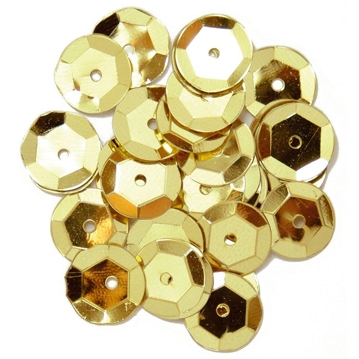 Cup Sequins 10mm: Gold