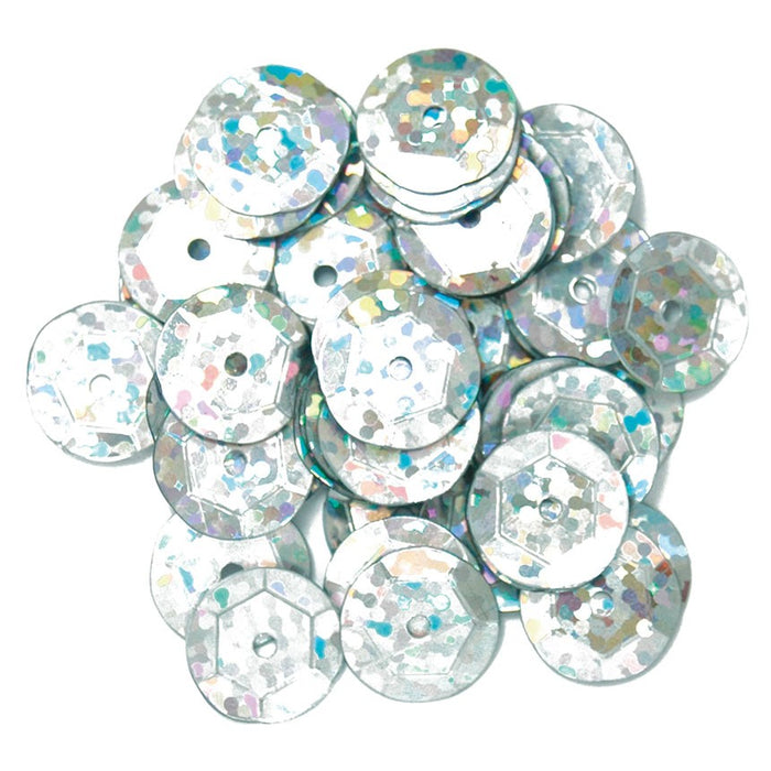 Hologram Sequins 10mm: Silver