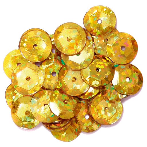 Hologram Sequins 10mm: Gold