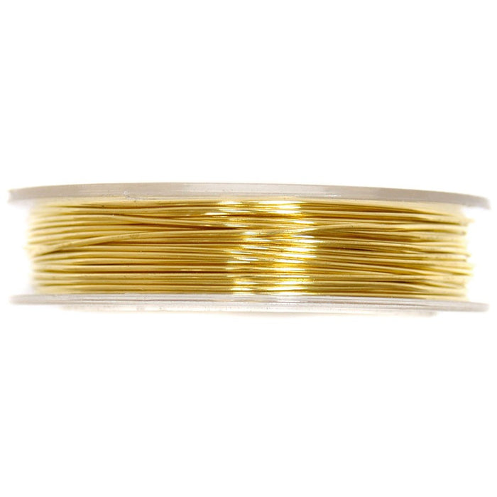 Brass Wire 5mx0.5mm: Gold