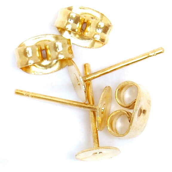 Ear Posts 6pk: Gold Plated