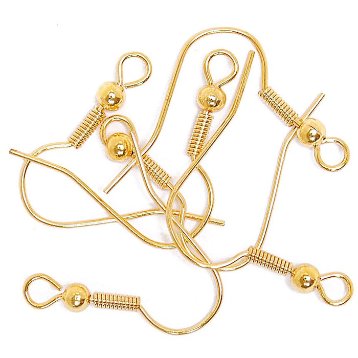 Ear Wires With Hooks 6pk: Gold Plated