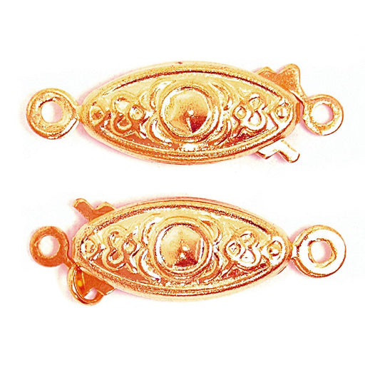 Flat Clasps 2pk: Gold Plated