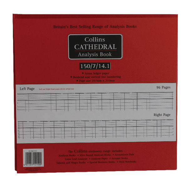 Collins Cathedral Analysis Book Petty Cash 96 Pages 812150/8