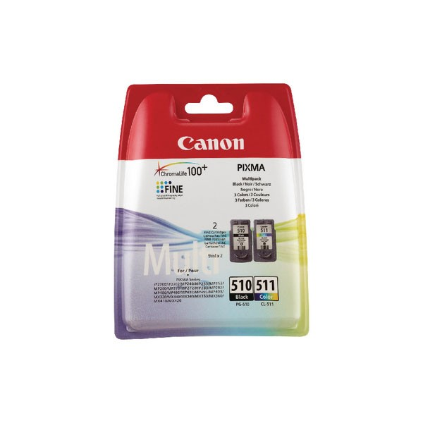Canon PGI-510 CL-511 Black/Colour Ink Cartridge Multipack 2970B010