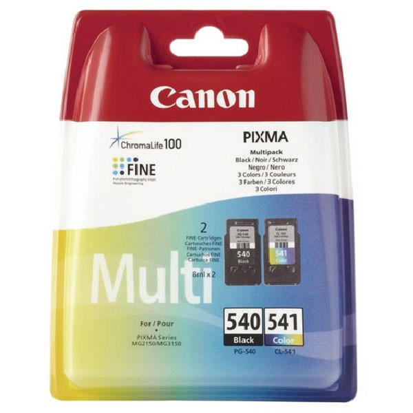 Canon PG-540XL/CL-541XL Photo Inkjet Cartridges (Pack of 2) 5222B013