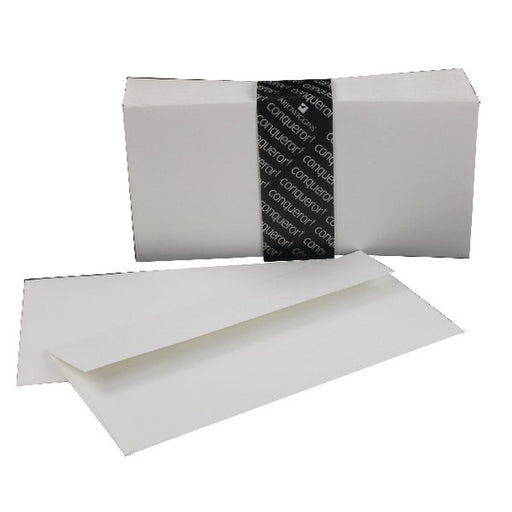 Conqueror Laid DL Wallet Envelope 110x220mm High White CDE1440HW