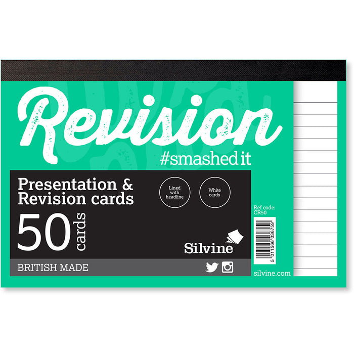 Revision Note Cards White 152x102mm Pad 50