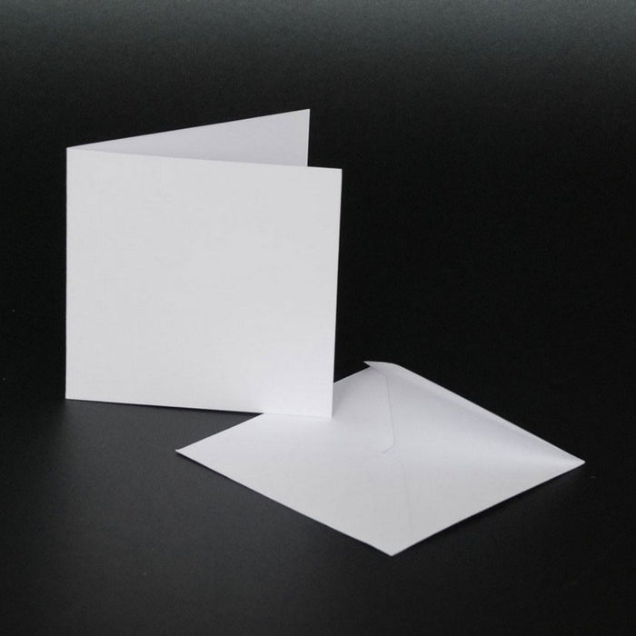 3x3 Cards and Envelopes 50 Pack White