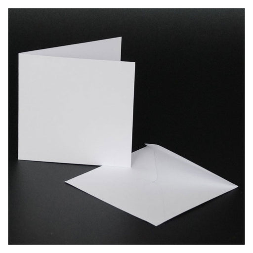 4x4 Cards and Envelopes 50 Pack White