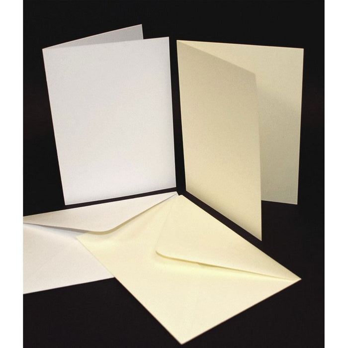 5x7 Cards and Envelopes 50 Pack White