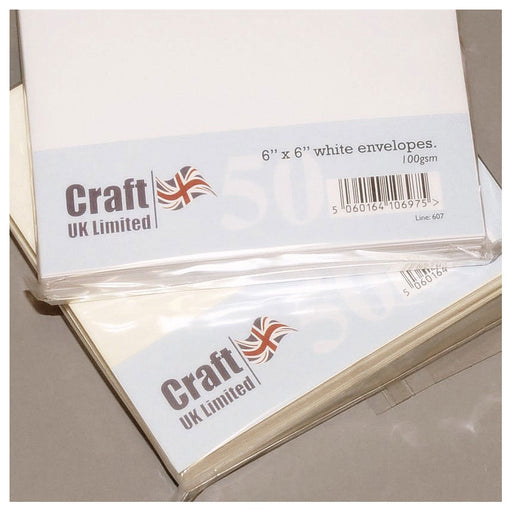 6x6 Envelopes 50 Pack White
