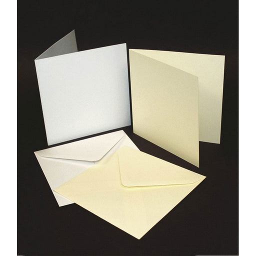 6x6 Cards and Envelopes 50 Pack White