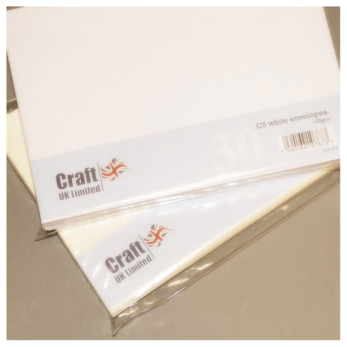 C5 Envelopes 30 Pack White