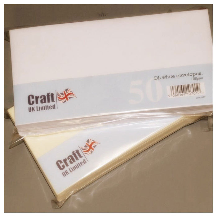 DL Envelopes 50 Pack White